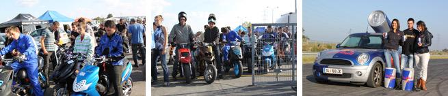 Les meetings scooter et événements moto attirent du monde.