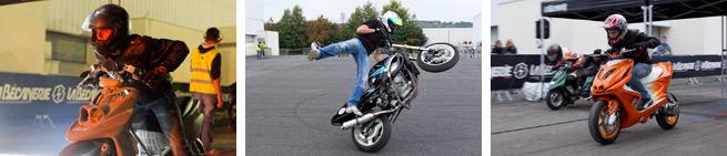 Vidéos de scooters de runs et de stunt moto...
